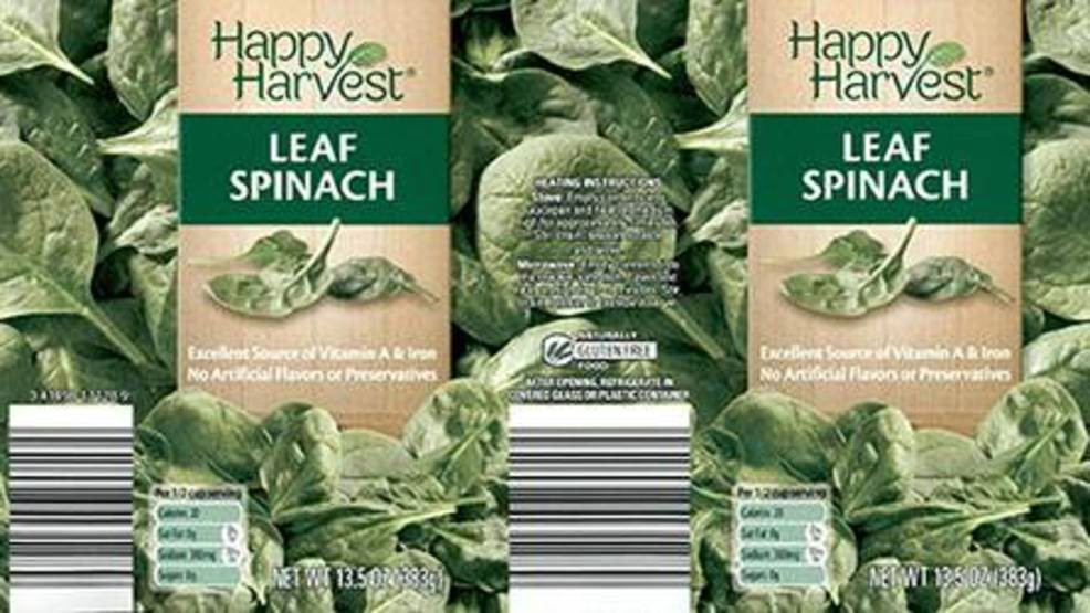 McCall Farms issues recall for spinach sold at ALDIs in 16