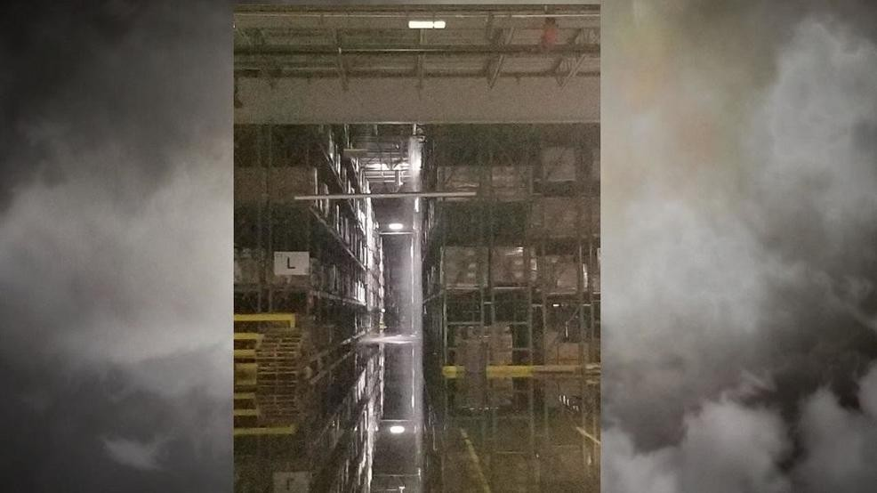 Home Depot Distribution Center roof collapses during storm